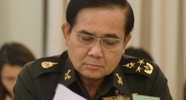 """The public should be thinking about holding sub-regional peace talks instead of pressuring those at the top to come up with answers,"""" Gen Prayuth Chan-ocha told reporters on Friday."""