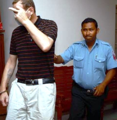 Ian Paul Bower was re-arrested by immigration police outside Phnom Penh International Airport