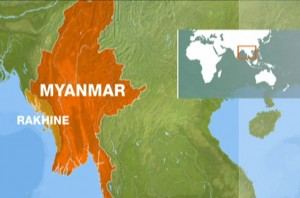 The violence took place on Tuesday in Du Char Yar Tan, a village in western Rakhine state.