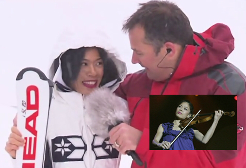 Vanessa-Mae Vanakorn Nicholson pictured during an interview in Zermatt, Switzerland.