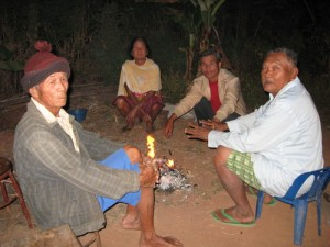 Chiang Rai, locals in many communities have kept a fire going through the coldest hours of each day to keep themselves warm
