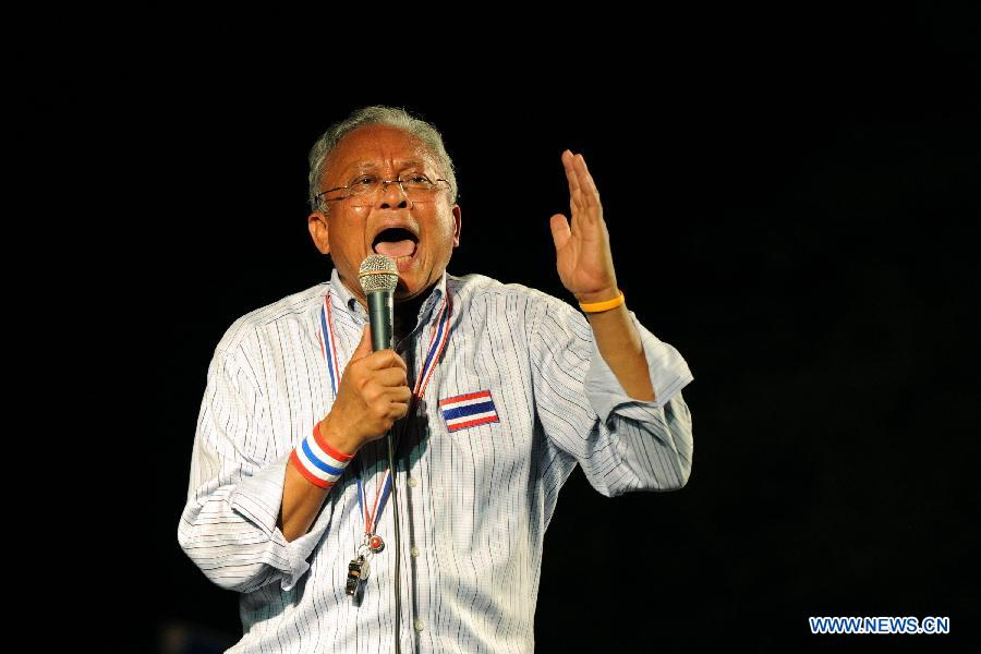 Thailand's anti-government protest leader Suthep Thaugsuban