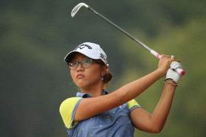 16-year-old Lydia Ko world No.4 has work to do to catch Swedish outright leader Anna Nordqvist, whose 66 has her one stroke ahead of American Michelle Wie.