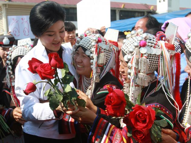 Yingluck receives warm welcome in Chiang Rai