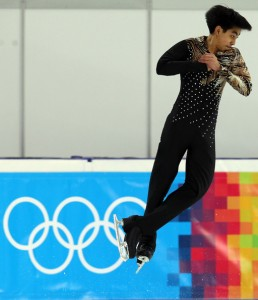Michael Christian Martinez of Philippines competes during the men's figure skating short program