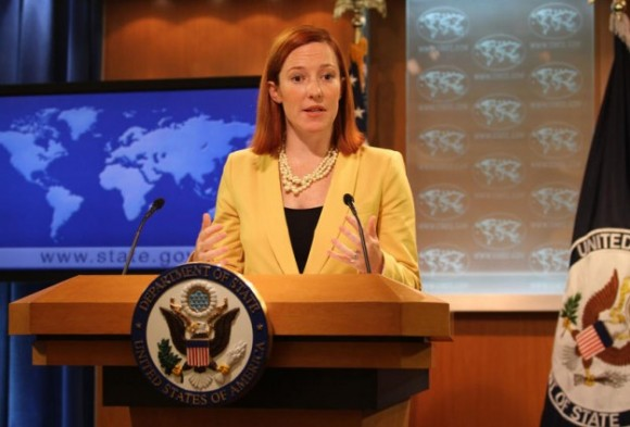 """We certainly do not want to see a coup or violence,"" US State Department spokeswoman Jen Psaki said"