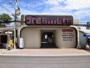 Douglas's 'Dreamers' club and restaurant which he started with a local influential Thai businessmen