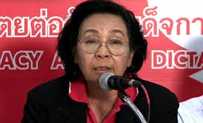 "Thida Thavornseth, chairwoman of the United Front for Democracy Against Dictatorship, the principal Red Shirt organization of Thaksin supporters, warns of ""civil war"" if the election result is not honored soon."