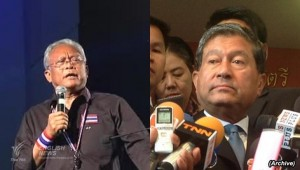 Labour Minister (Right) Chalerm Yubamrung has threatened to arrest protest leader Suthep Thuagsuban on charge of sedition if the protest turns violent