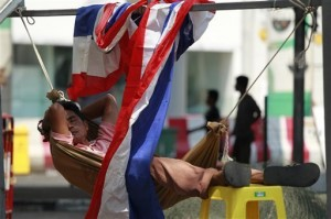 Bangkok demonstrators consolidate protest in park