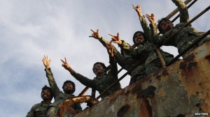 These Philippine marines have been stationed aboard the BRP Sierra Madre for the last five months