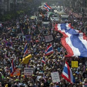 Thailand's ongoing political protests threaten to push the country into a recession