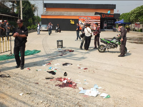 Teen Fight at Chiang Rai's U-Turn Pub End's with Bomb Explosion, 7 injured