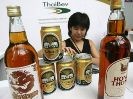 Thaibev enjoys a virtual monopoly in Thailand's alcohol market, producing 90% of Thailand's liquor