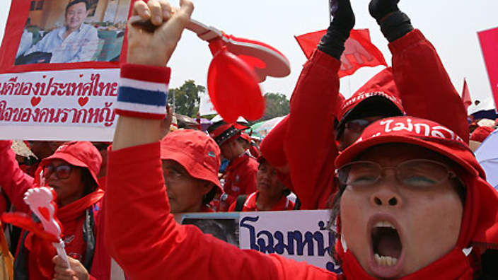 Red Shirts want to send a clear message to opponents of the government that they will rise up if Yingluck is toppled