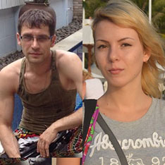 Mr Slabinskiy disappeared along with his girlfriend, Iana Strizheus