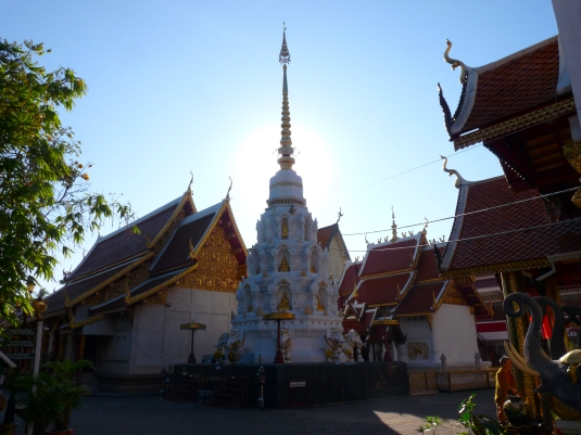 Chiang Rai Buddhist Group meets at  Klang Wian Temple  in Chiang rai