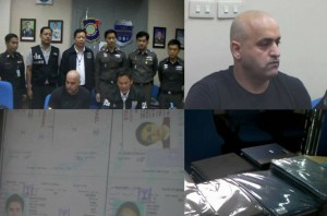 In a joint operation involving the Tourist Police, Department of Special Investigations (DSI) and the Royal Thai Police Special Branch, with assistance from the Canadian Border Services Agency, an Iranian National, residing in Pattaya, was arrested on Friday Night accused of producing fake passports.