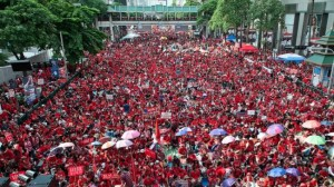 Supporters of the Thai government gather in the capital, Bangkok