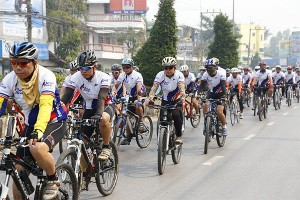 Chiang Rai is an ideal destination for cycling enthusiasts Please credit and share this article with others using this link:http://www.bangkokpost.com/news/sports/403322/more-flights-to-cycle-friendly-chiang-rai. View our policies at http://goo.gl/9HgTd and http://goo.gl/ou6Ip. © Post Publishing PCL. All rights reserved.
