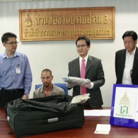34 Year old South African Johannes Ben Botha Busted with 2Kg Of Cocaine at Bangkok Airport