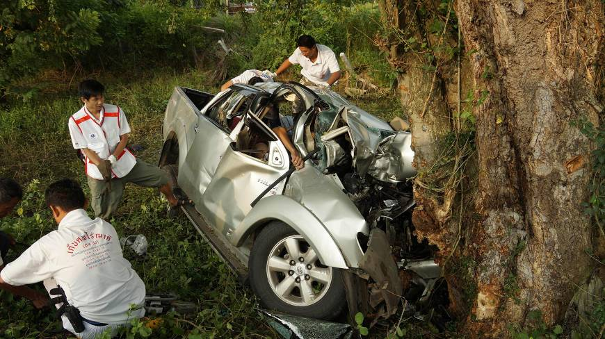 After one of the truck's tyres burst, the vehicle swerved and crashed into a tree - File Photo