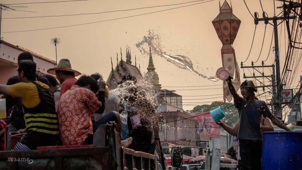 The Songkran festival is celebrated in Thailand as the traditional New Year's Day from 13 to 16 April. It coincides with the New Year of many calendars of South and Southeast Asia. - See more at: http://joup.co/portfolio/songkran-thai-new-year-in-chiang-rai-2013/#sthash.zZ7GP0OB.dpuf