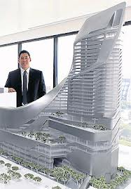 An artist's impression of Central Embassy By Chen Yang in Bangkok