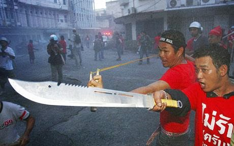Red shirts in 2009. Their violence and intimidation are legendary.