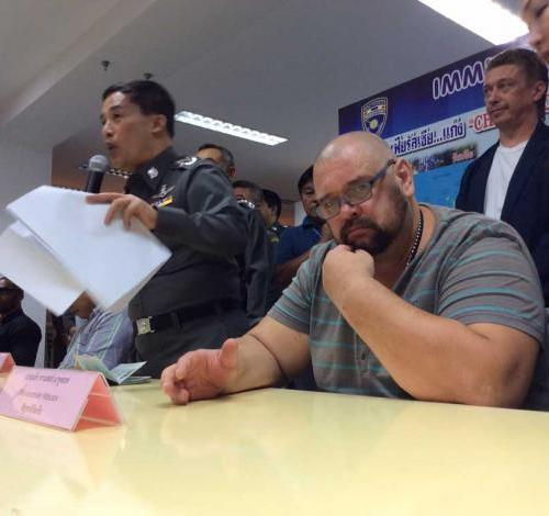 Alexander Matusov, 52, was arrested in front of a superstore in Chon Buri province on Monday.