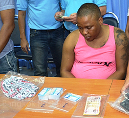 Manquba Parker Ngcobo, arrested on Friday with 72 fake ATM cards. (Police photo)