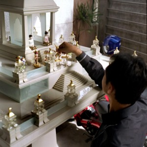 Builing Spirit Houses Out of Glass and Metal