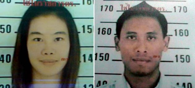 The couple accused of torturing Air — identified as Nathee Taengorn, 36, and Rattanakorn Piyavoratharm, 34 — skipped town after they were inexplicably released on police bail despite facing seven serious charges