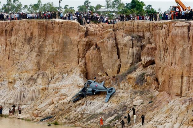 Helicopter Crash Kills 2 Cambodian Military Generals
