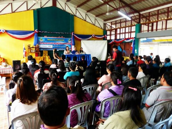 A press conference on a public school teacher in Mae Hong Son who allegedly  attempted to saw off the ear of one of her 4-year-old students