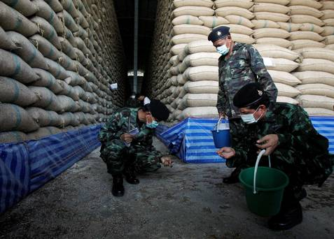 An inspection of rice warehouses launched by Thailand