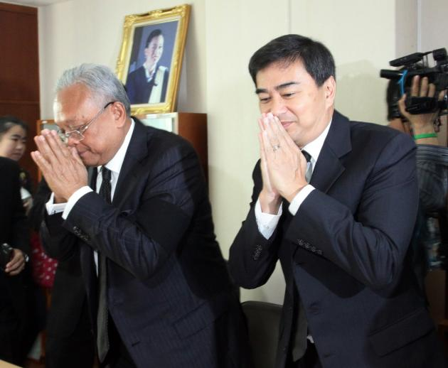 """Murder charges against Abhisit and his then number two Suthep Thaugsuban linked to the bloody crackdown on rival """"Red Shirt"""" supporters, were unexpectedly dropped last Thursday"""