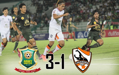 Chiang Rai United Defeated 3-1 by Army United