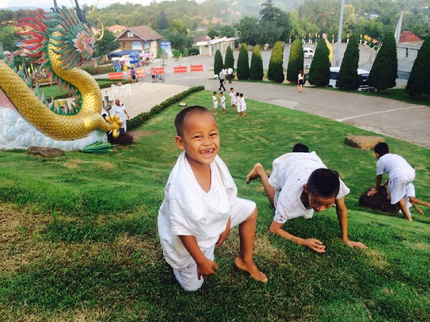 Kae Khae at Wat Huay Pla Kang's orphanage in Chiang Rai where he now lives.