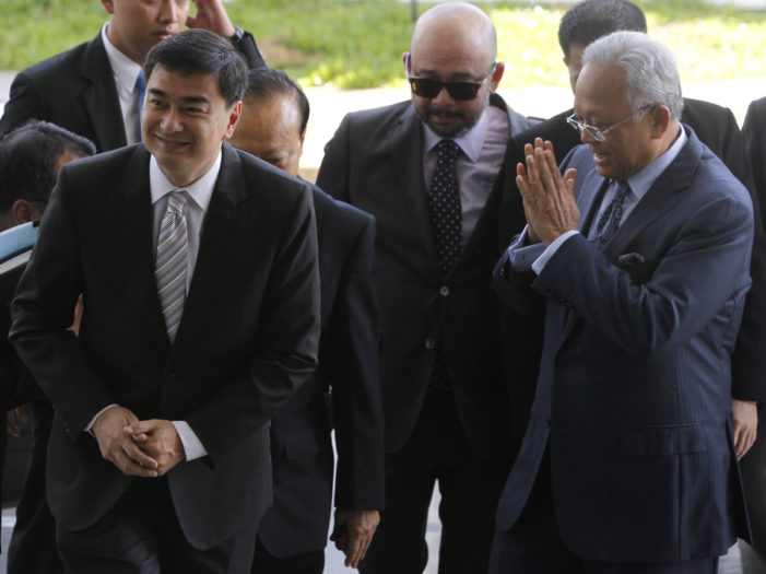 Thai Court Drops Murder Charges Against Abhisit and Suthep