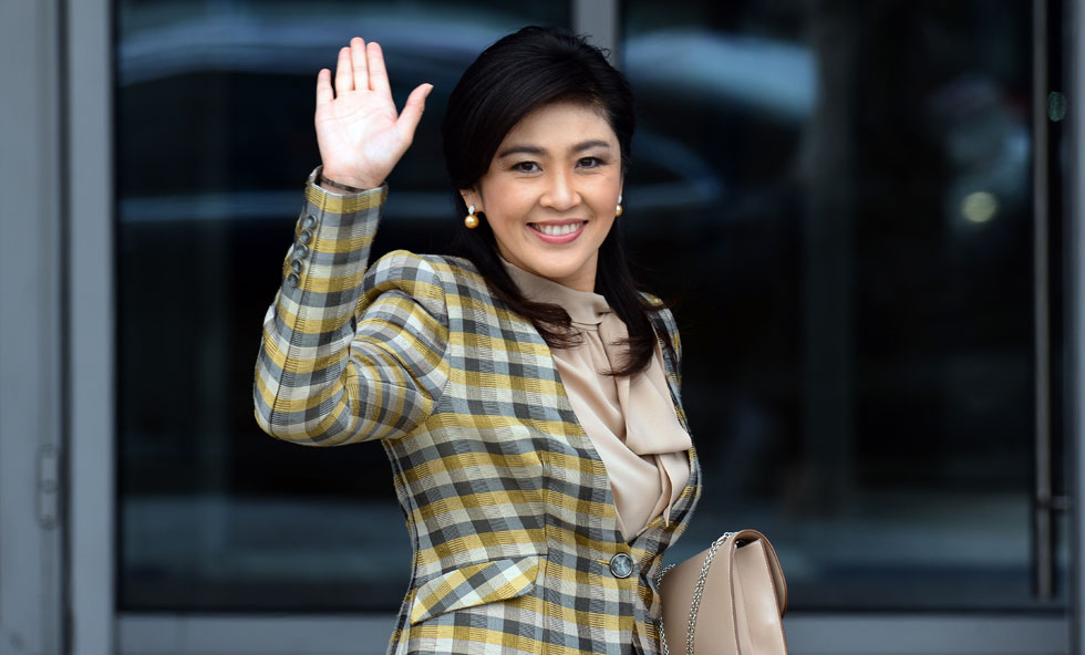 Deposed former Prime Minister Yingluck Shinawatra