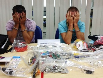"""Two Bulgarian men were arrested last night (November 4) when they went to retrieve sophisticated """"skimming"""" equipment they had installed in an ATM - See more at: http://www.thephuketnews.com/two-arrested-for-skimming-phuket-atm-34301.php#sthash.V8iU7wlY.dpuf"""