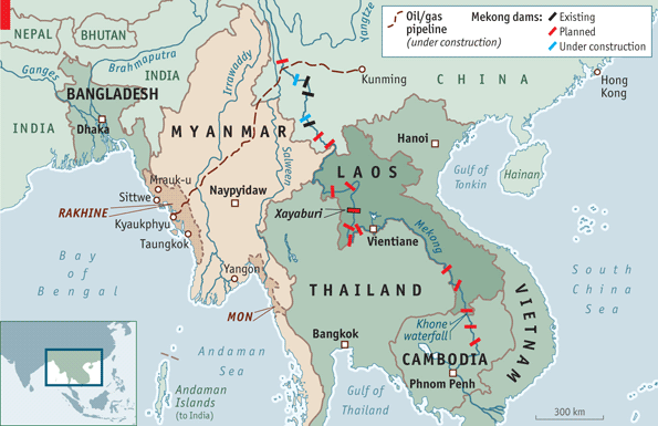 THE Mekong river, snaking its way through the heart of South-East Asia, has long sustained the world's biggest and most productive inland fishery, supplying protein for around 65m mainly poor people from four riparian countries, Laos, Thailand, Cambodia and Vietnam
