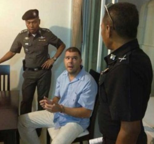 David was arrested in Surat Thani on December 4, a week after Mr Reisz's body was found.