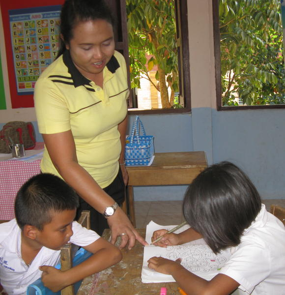 Thanya Srilapkhuen, a primary school teacher