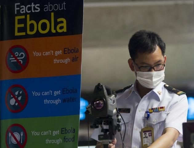 Chiang Rai International Airport Practices Trial Run, in Case of Ebola Infection