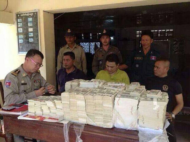 Thai Navy Marines Arrested in Cambodia with 7.6 Million in US Counterfeit Money