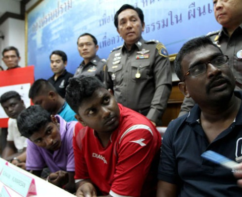 The five are Francis Xavier Arulappan, 35, Mageswaran Balakrishnan, 23, Velanraj Vallanrasen, 22, Gunalan Kumaresan, 25, and Kartik Sinansamy, 25. Public prosecutors filed the case with the court on July 21 this year. The court was toldthe five Malaysians, together with accomplices still at large, had usedcomputerised equipment to make 705 fake credit cards from April 2 to April 26, 2009. The fake cards were linked to real credit card accounts with commercial banks incountries such as France, Italy, Canada and Denmark. The thieves used the fake cards142 times in many provinces, including Krabi, Trang and Songkhla, towithdraw a total of 500,000 baht in cash. Crime Suppression Division police arrested the five men in April this year. The Criminal Court sentenced each of the five to a total 568 years in jail (four years for each of the 142 offences). Their confessions convinced the court to halve their jail terms to 284 years. The court finally capped their imprisonment period at 50 years in accordance with Thai law. It also ordered that they repay the 500,000 bahtto the damaged banks.