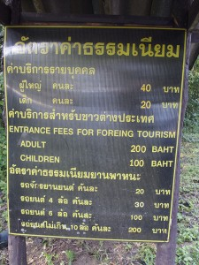 Foreigners Pay more to enter parks