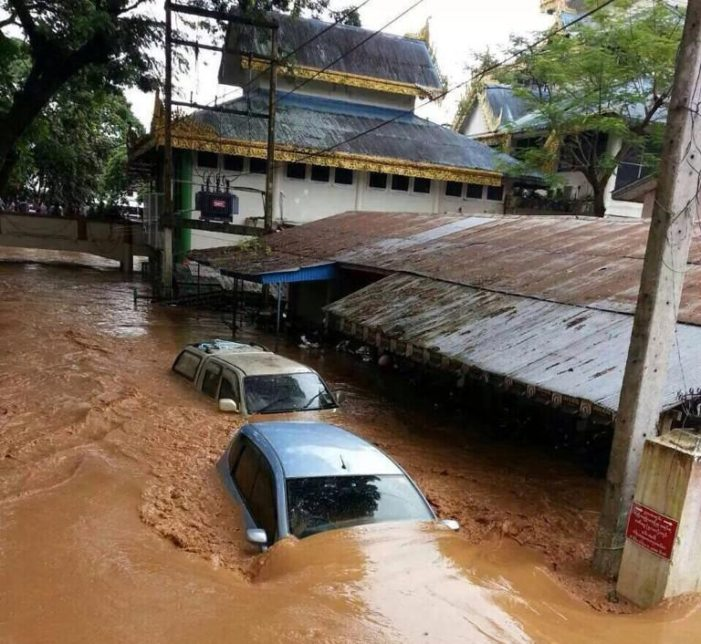 Heavy Rains Cause Major Flooding in Chiang Rai's Mae Sai and Mae Chan Districts